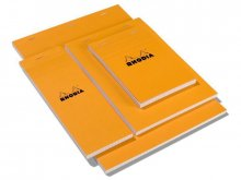 Rhodia writing pad, orange