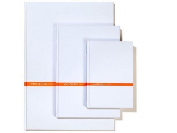 Whitelines notebook, hardcover, white