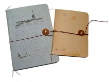 O-Check Design notepad ''String'' with closure
