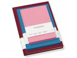 Libro de notas Semikolon, con forro de lino