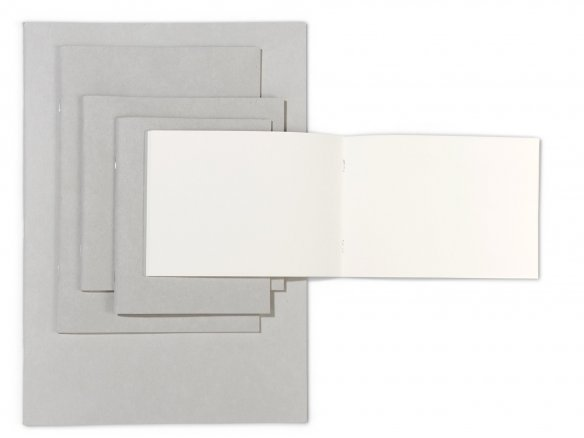 Sketch booklet, grey cardboard