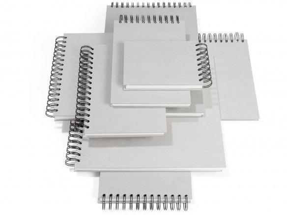 Skizzenbuch Spirale A5 hoch 55 Blätter Graupappe 130g//m²
