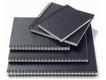 Cuaderno de espiral para esbozos Flexi, negro