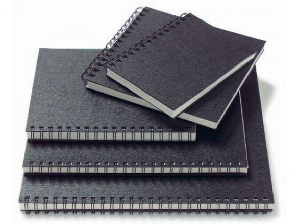 Sketchbook, flexi spiral, black