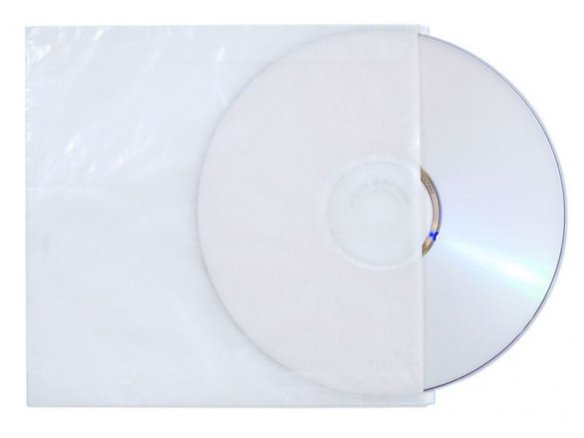CD sleeve, glassine paper, translucent, colourless