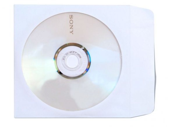CD pouch, kraft paper, 90 g/mř, white, with window