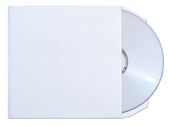 CD-Tasche Kraftpapier 120 g/m², weiß