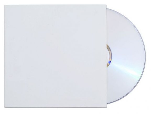 CD paperboard sleeve, 160 g/mř, white