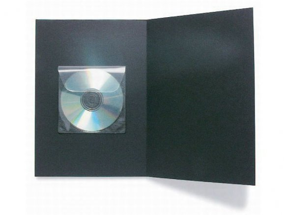 CD sleeve, self-adhesive