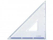 Drafting and cutting set square, Plexiglas