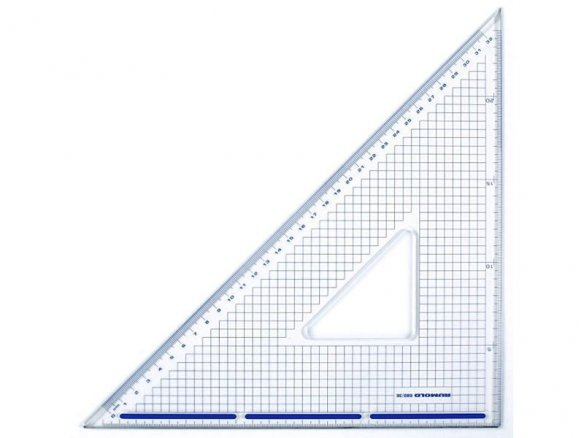 Drafting and cutting set square, Plexiglas