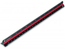 Triangular scale ruler, plastic