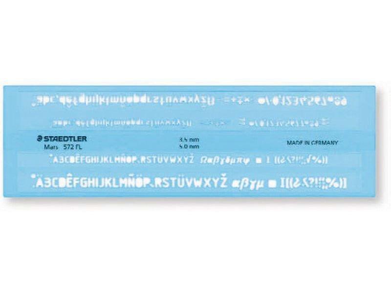 Buy Staedtler lettering template Mars 572 FL online at Modulor