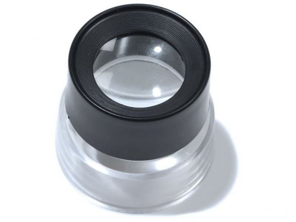 Plastic cylinder magnifier (loupe)