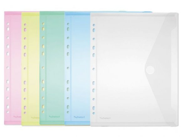 Prospekthüllen PP mit Klettverschluss