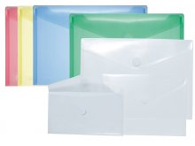 PP plastic envelopes, with V-shaped Velcro flap