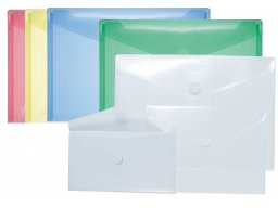 PP plastic envelopes, with V-shaped hook+loop flap
