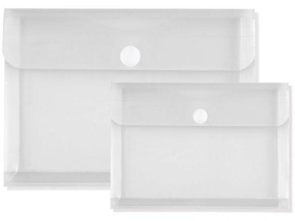 PP plastic folder, Velcro fastener, expansion fold