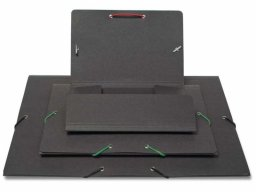 Paperboard corner-elasticated folder, anthracite