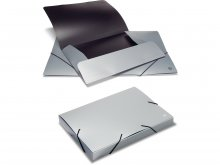 Ecobra corner-elasticated folder, silver