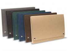 Cardboard file folder with snap fasteners