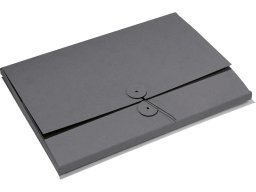 Cardboard file folder with string fastener