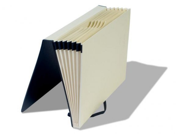 Moleskine sectioned folder portfolio