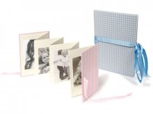 Semikolon photo concertina folder, linen cover