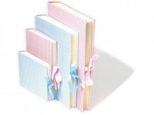 Álbum de fotos Semikolon, forro de lino con diseño