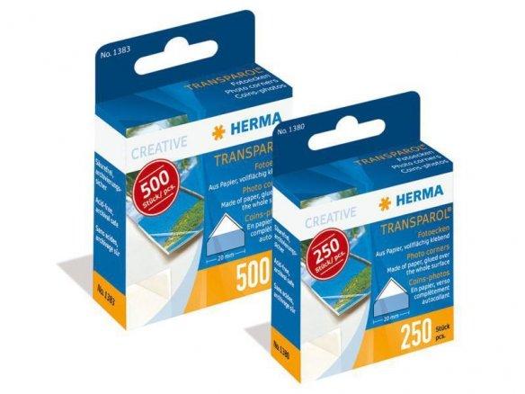 Esquinas adhesivas para fotos Herma Transparol