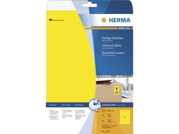 Herma Superprint paper, self-adhesive