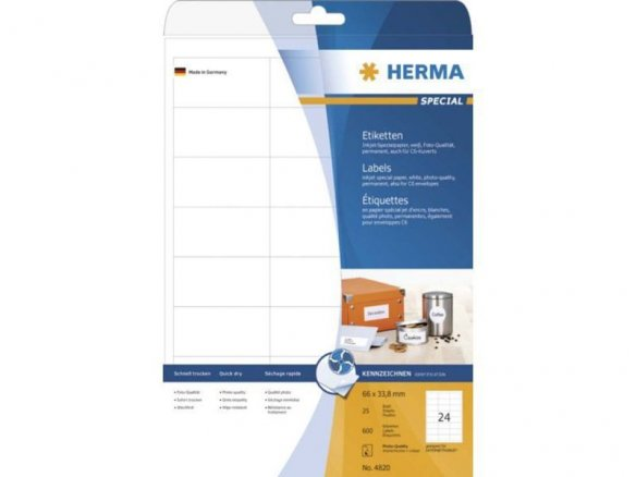 Etiquetas Herma Inkprint Photo-Quality