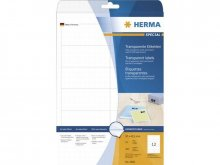 Herma address labels, transparent