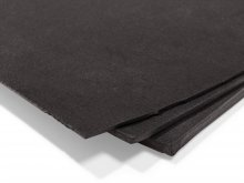 Cellular rubber mat, black