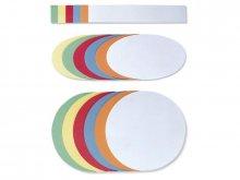 Fichas p. presentaciones, mezcla colores y tamaños