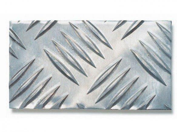 Aluminium Raupenblech, Quintett W5 im Zuschnitt