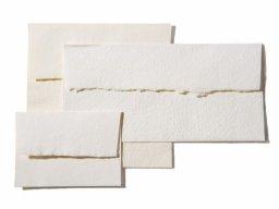 Busta Khadi in carta di stracci, bianca