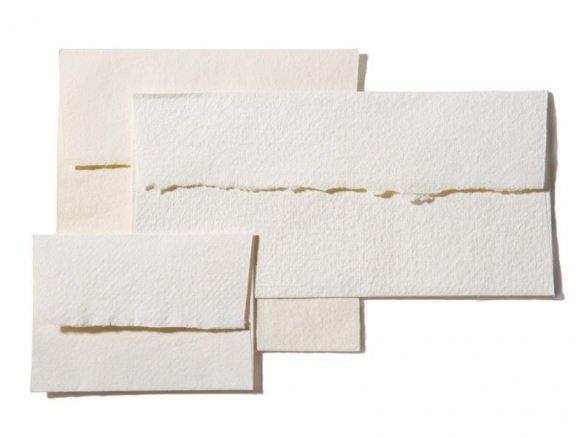 Sobres de papel de trapo Khadi, blancos