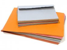 Khadi rag paper envelope, coloured