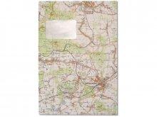 Bolsa de mapas, de color, mapa cara exterior