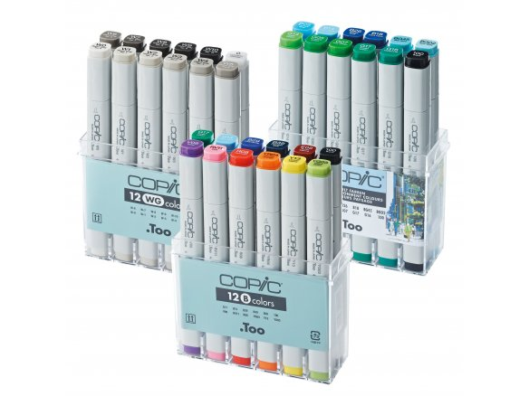 Copic Marker, set of 12