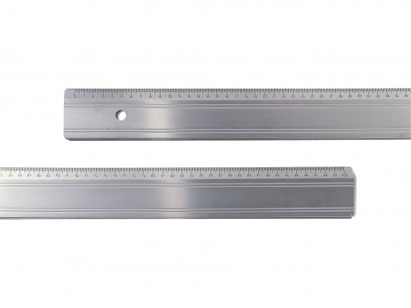 Regla de corte de aluminio, canto de acero, fina
