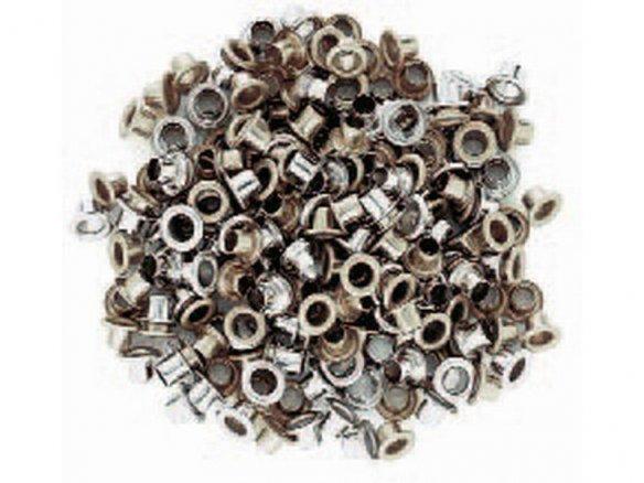 Occhielli in acciaio, nichelati