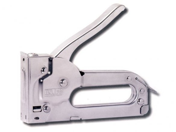 Hand-held staple gun, metal