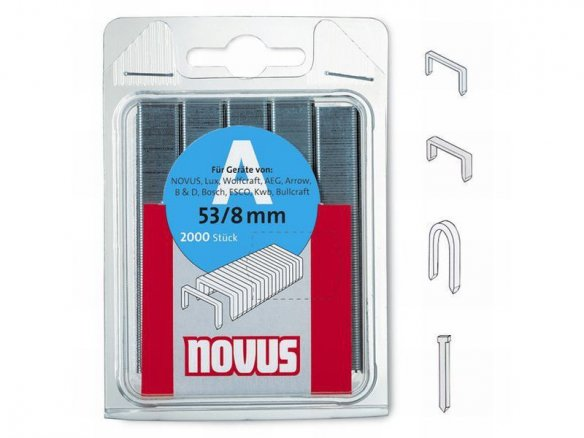 Novus staples, galvanised