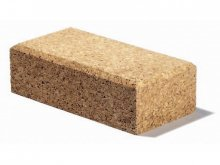 Pressed cork sandpaper block