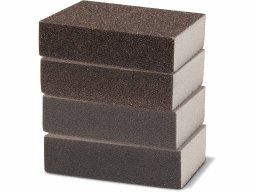Esponja lijadora, material abrasivo cuatro lados
