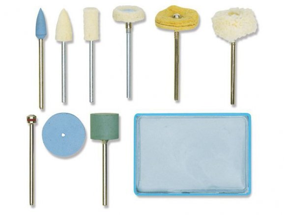 Proxxon complete polishing set, 10 pieces
