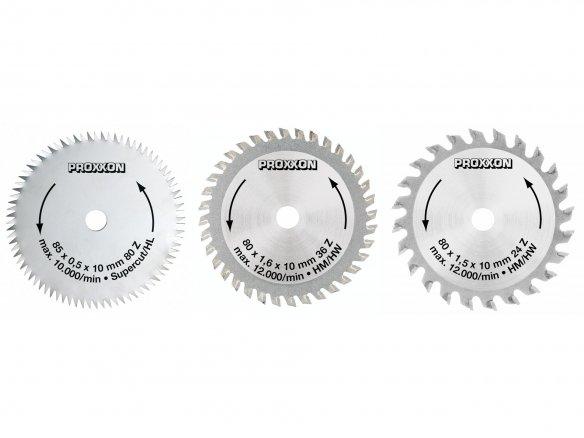 Hojas sierra circular de mesa Proxxon FET y FKS/E