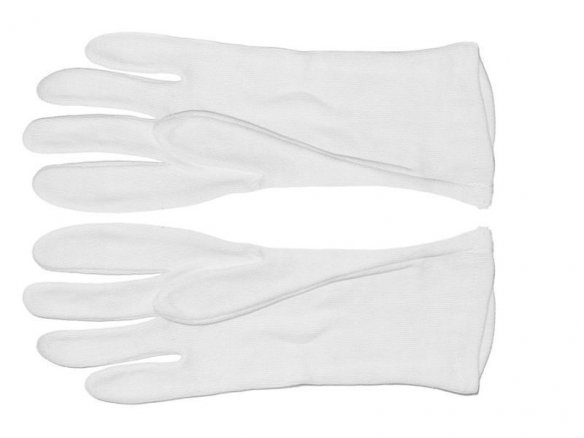 Cotton gloves white, light quality